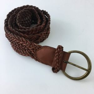 Banana Republic Brown Braided Leather Belt M/L